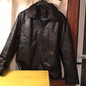 Chaps Jackets & Coats - NWT Chaps Ralph Lauren mens leather jacket medium
